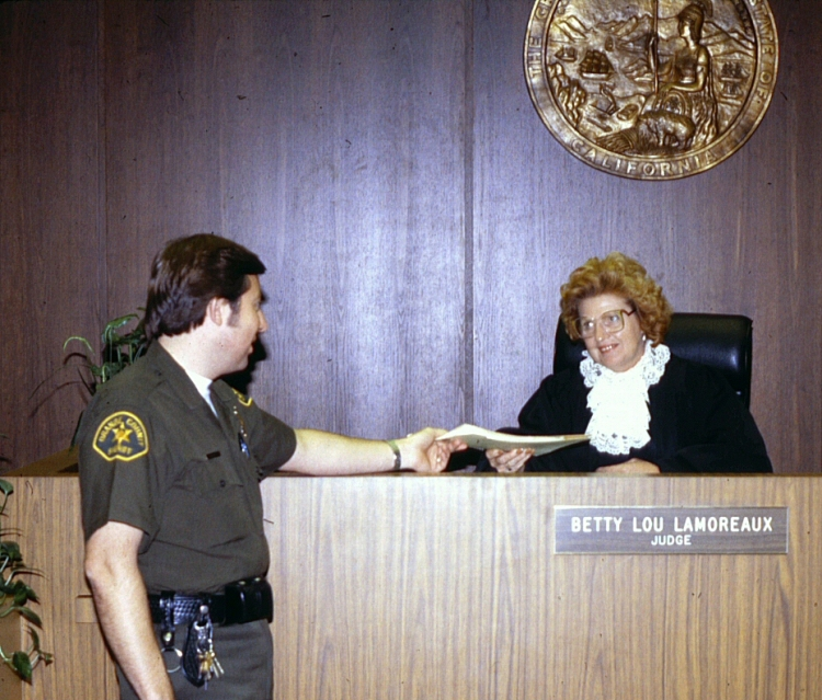 Not where you want to end up as a writer. Unless you're writing a courtroom drama, but even then, be careful! (Photo courtesy Orange County Archives).